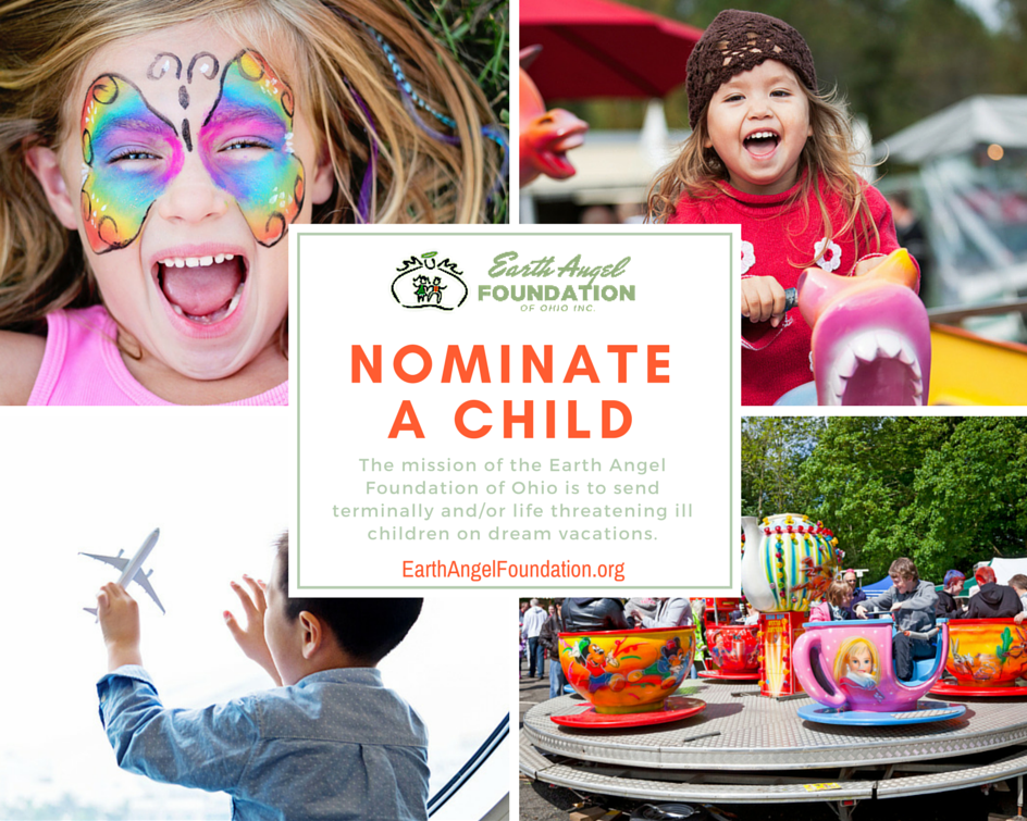 nominate a child at Earth Angel Foundation